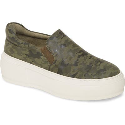 Jslides Cleo Platform Slip-On Sneaker, Green