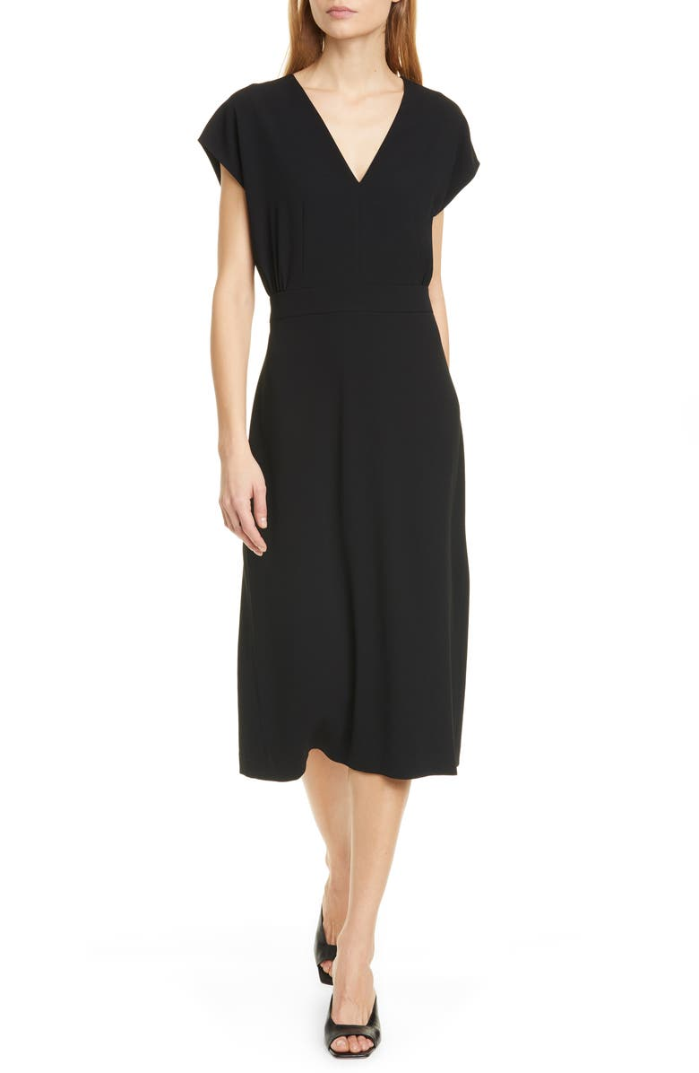 JUDITH & CHARLES Louvre Midi Dress, Main, color, 001