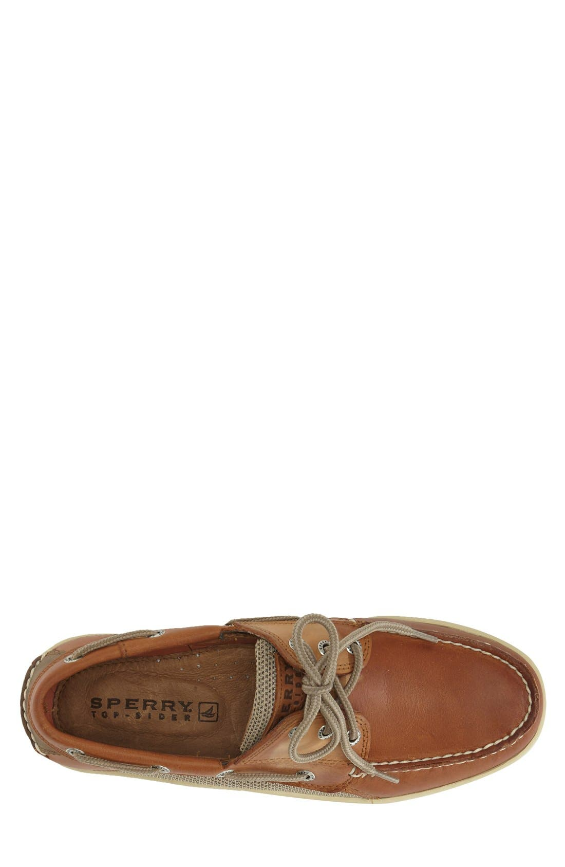 ,                             'Billfish' Boat Shoe,                             Alternate thumbnail 4, color,                             Dark Tan