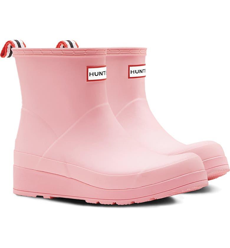 HUNTER Original Play Waterproof Rain Bootie, Main, color, CANDY FLOSS