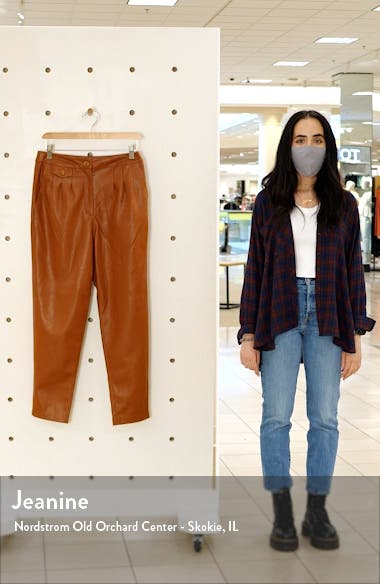 Faux Leather Pleated Trousers, sales video thumbnail