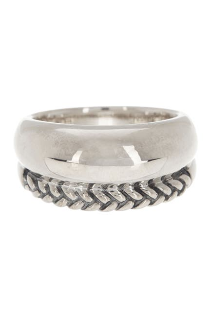 Image of Nambe Sterling Silver Braided Ring - Size 11