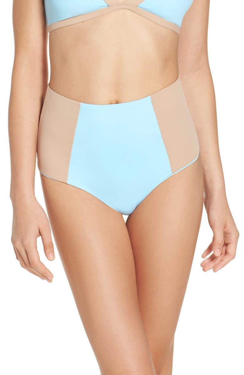 L SPACE Portia Reversible High Waist Bikini Bottoms, Main, color, 456