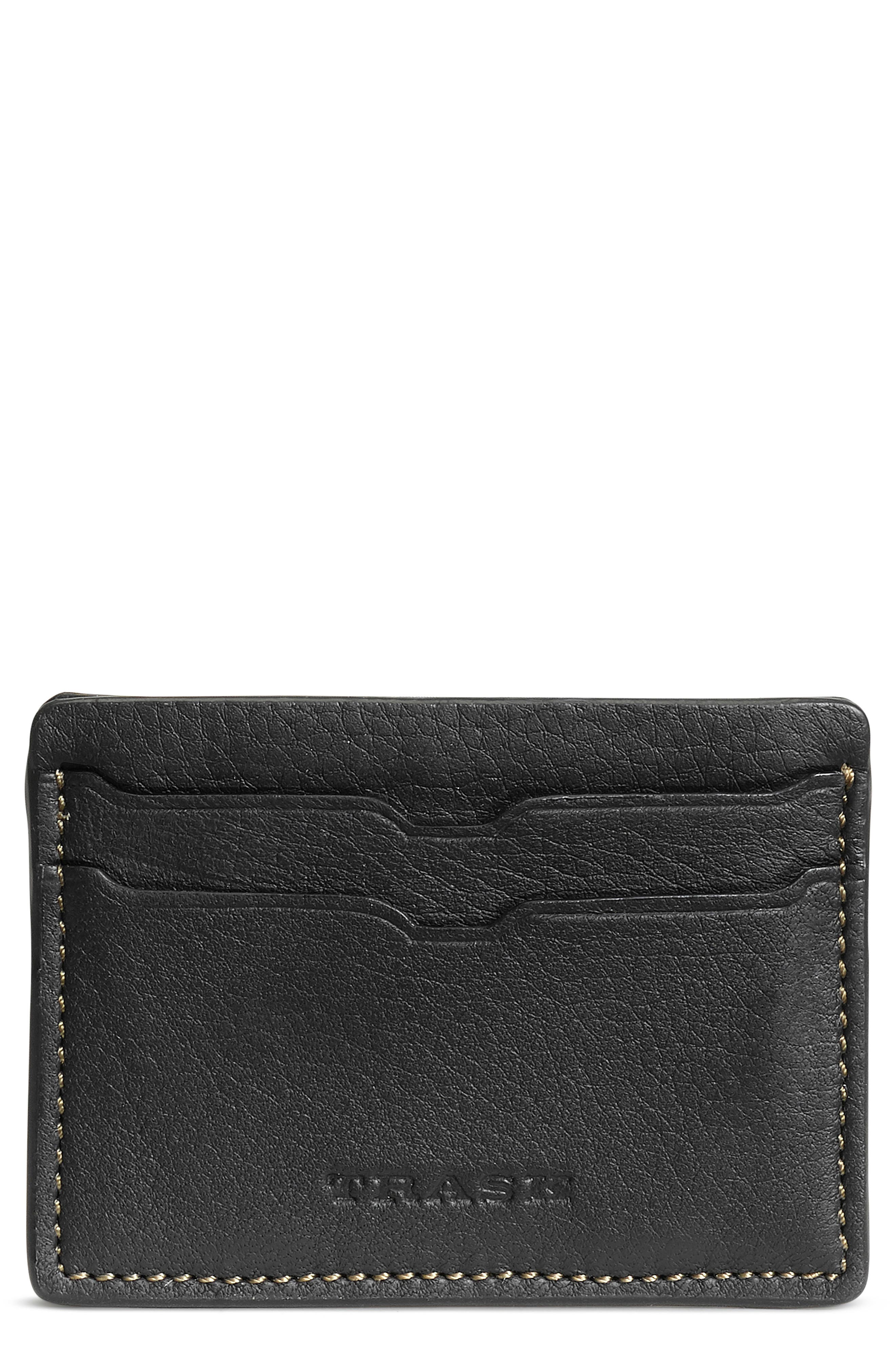 Built from Norwegian elk or American bison leather, this handsome card case offers a fusion of form and function with easy appeal. RFID shielding helps protect your personal information. Style Name: Trask Jackson Leather Card Case. Style Number: 5995817. Available in stores.