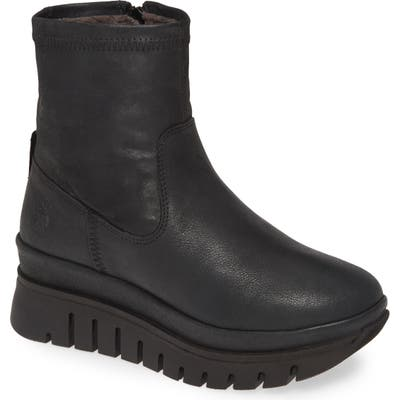 Fly London Bork Platform Boot - Black