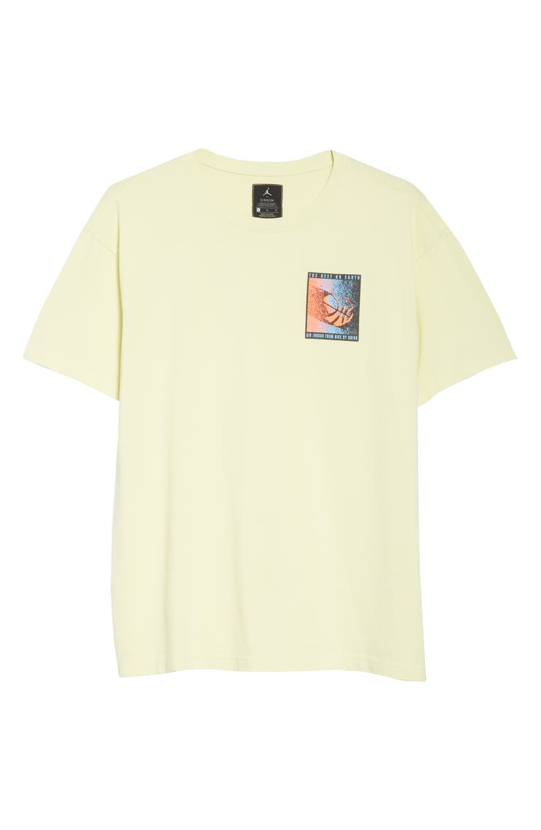 JORDAN NRG Men's Basketball Logo T-Shirt, Main, color, LUMINOUS GREEN