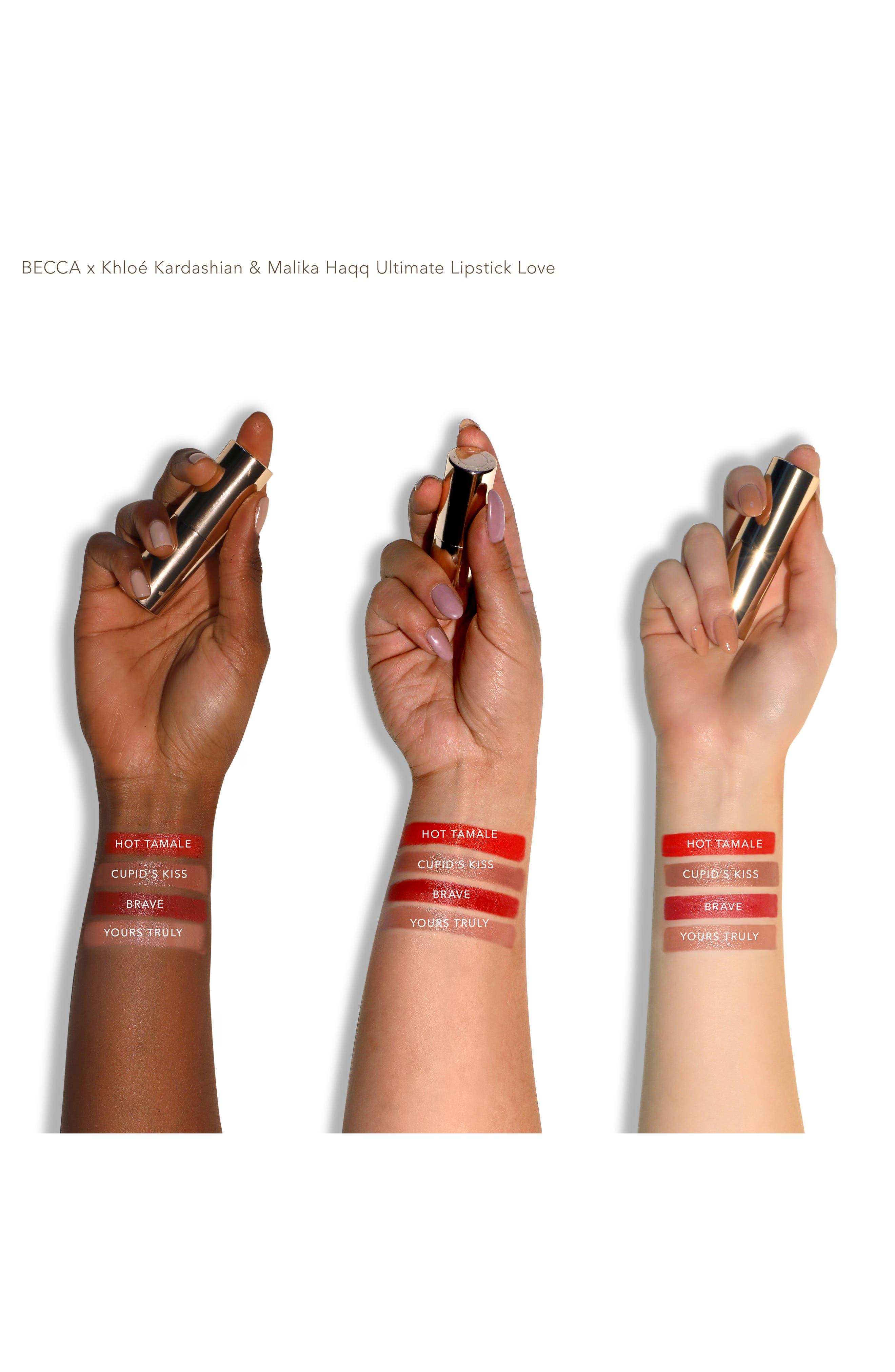 ,                             BECCA x Khloé Kardashian & Malika Haqq BFF Ultimate Lipstick Love,                             Alternate thumbnail 2, color,                             CUPID KISS
