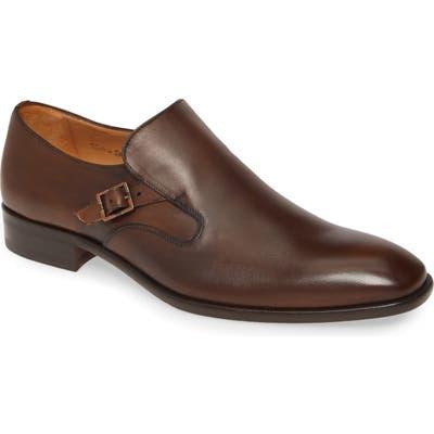 Mezlan Foggia Monk Strap Shoe, Brown