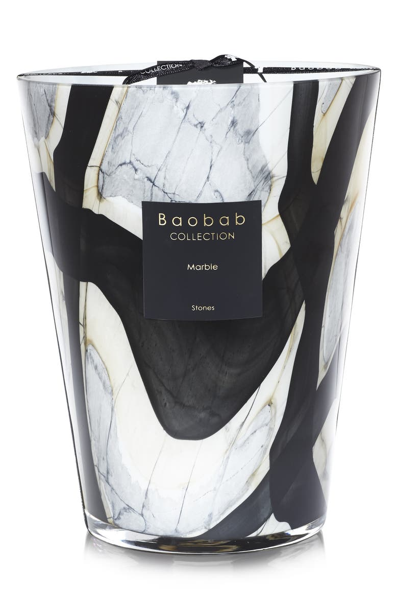 BAOBAB COLLECTION Stones Marble Candle, Main, color, MARBLE- LARGE
