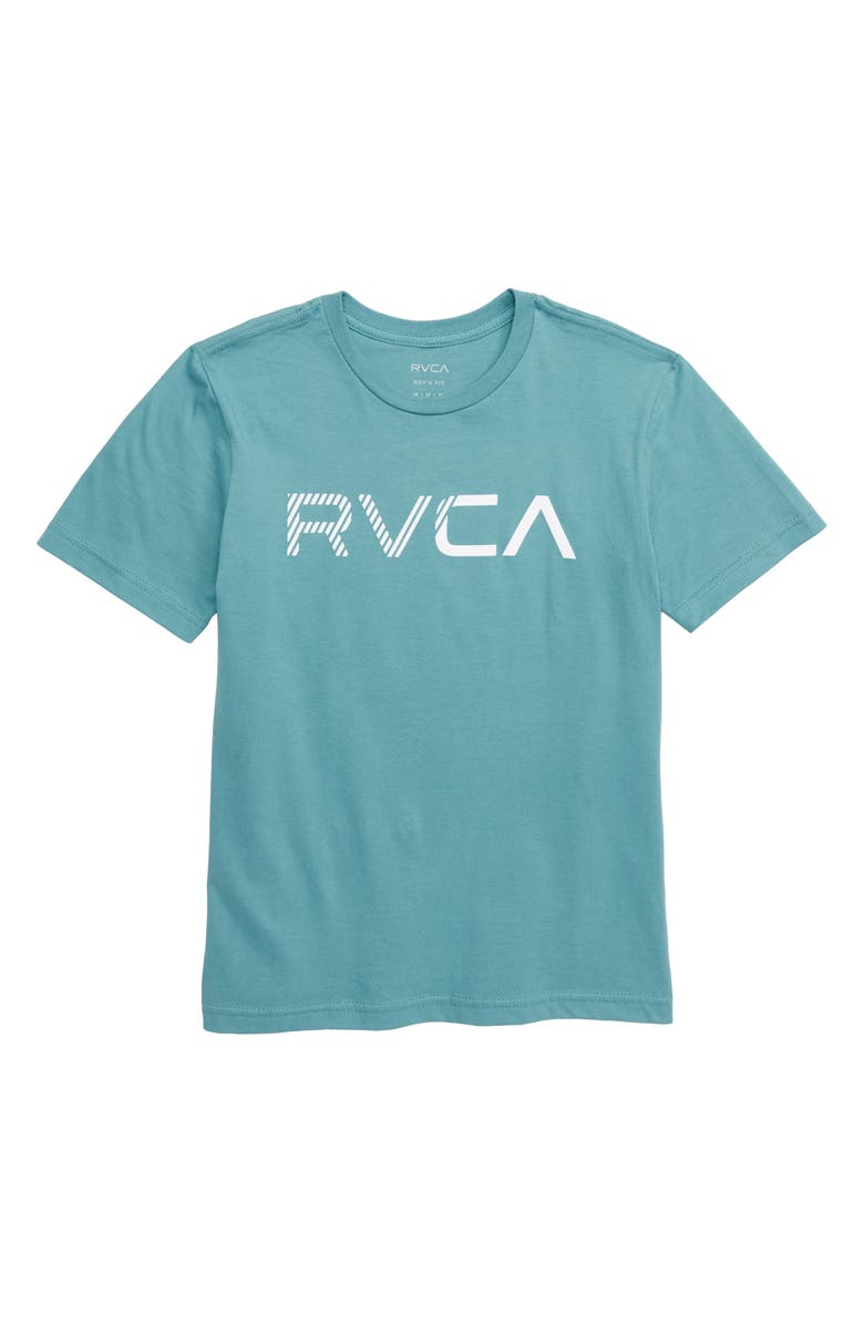 RVCA Blinded Logo T-Shirt, Main, color, 453