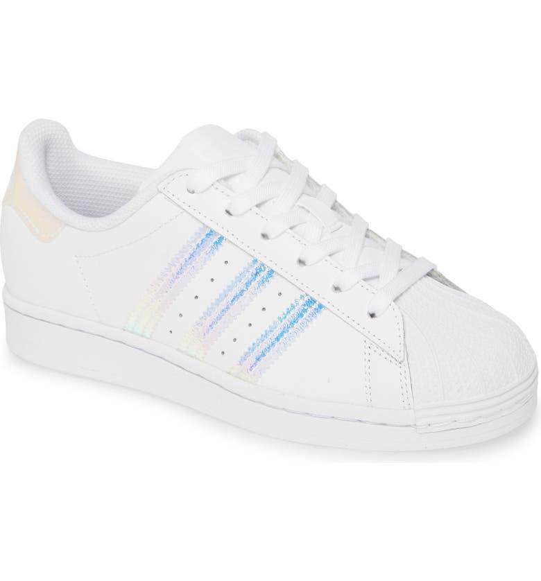 ADIDAS Superstar Sneaker, Main, color, WHITE/ WHITE/ WHITE