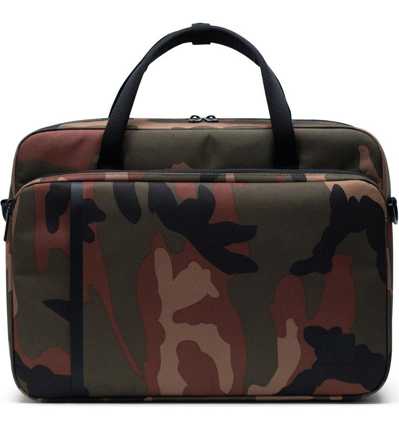 HERSCHEL SUPPLY CO. Gibson Travel Briefcase, Main, color, WOODLAND CAMO