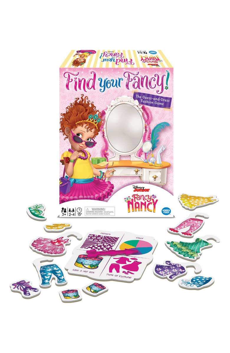 RAVENSBURGER Disney Junior Fancy Nancy Find Your Fancy Game, Main, color, PINK