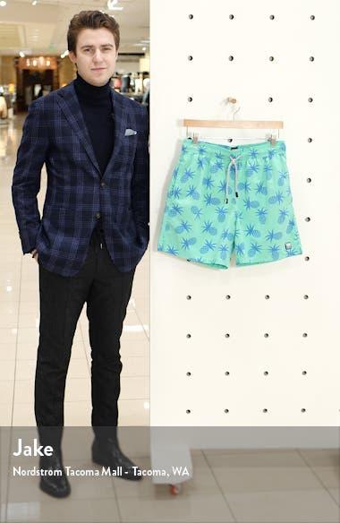 Pineapple Print Swim Trunks, sales video thumbnail