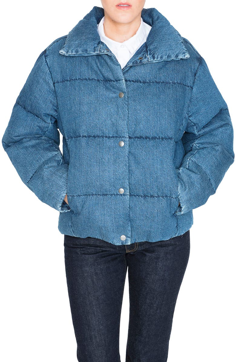 PRPS Denim Down Puffer Jacket, Main, color, 489