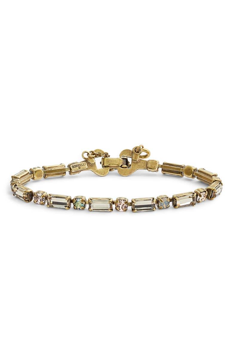 SORRELLI Line & Dot Crystal Bracelet, Main, color, BEIGE