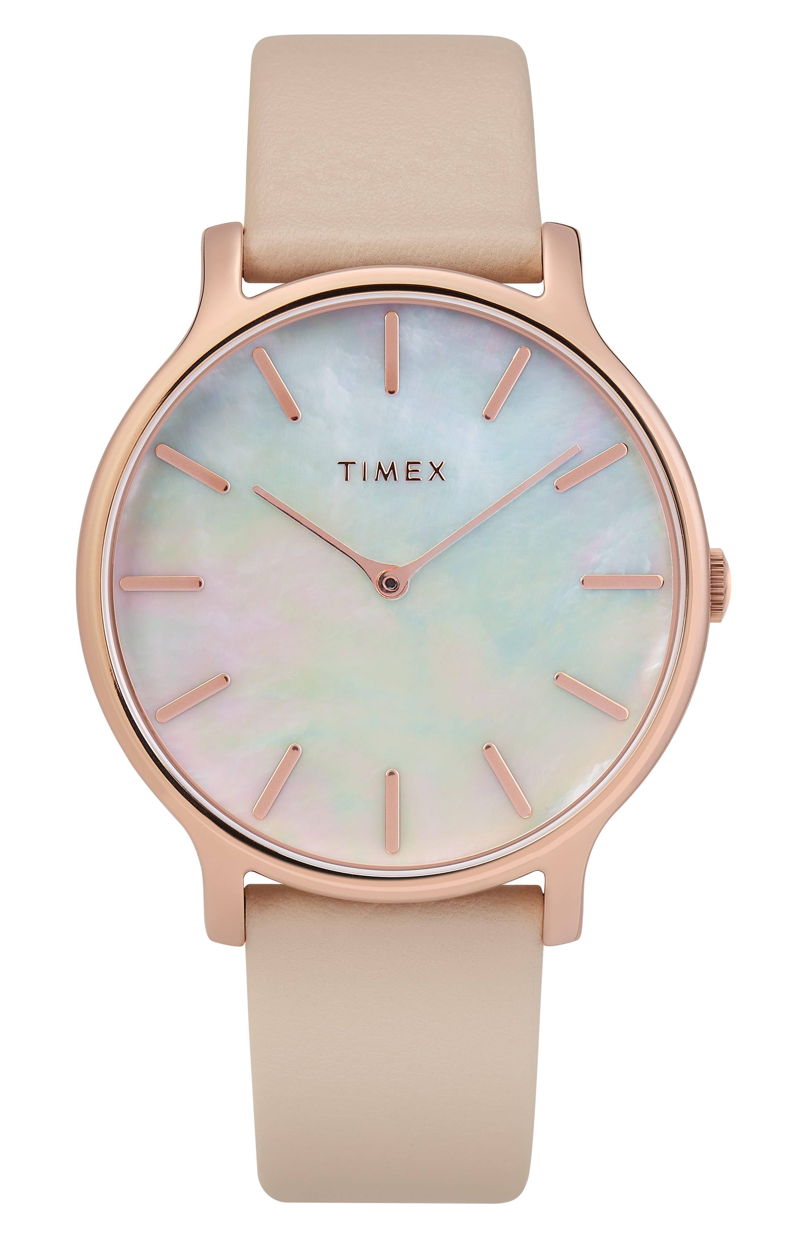 Timex Metropolitan Leather Strap Watch,