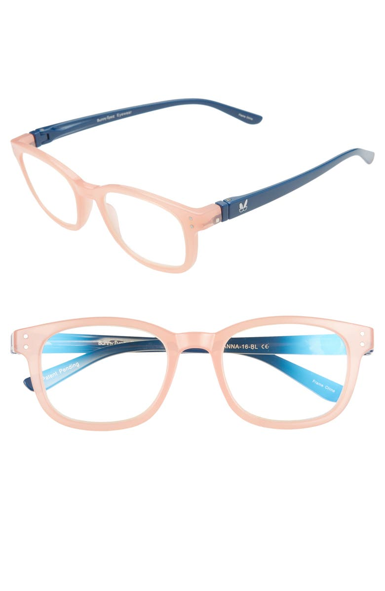 BUNNY EYEZ The Anna 49mm Reading Glasses, Main, color, ROSE/ NAVY