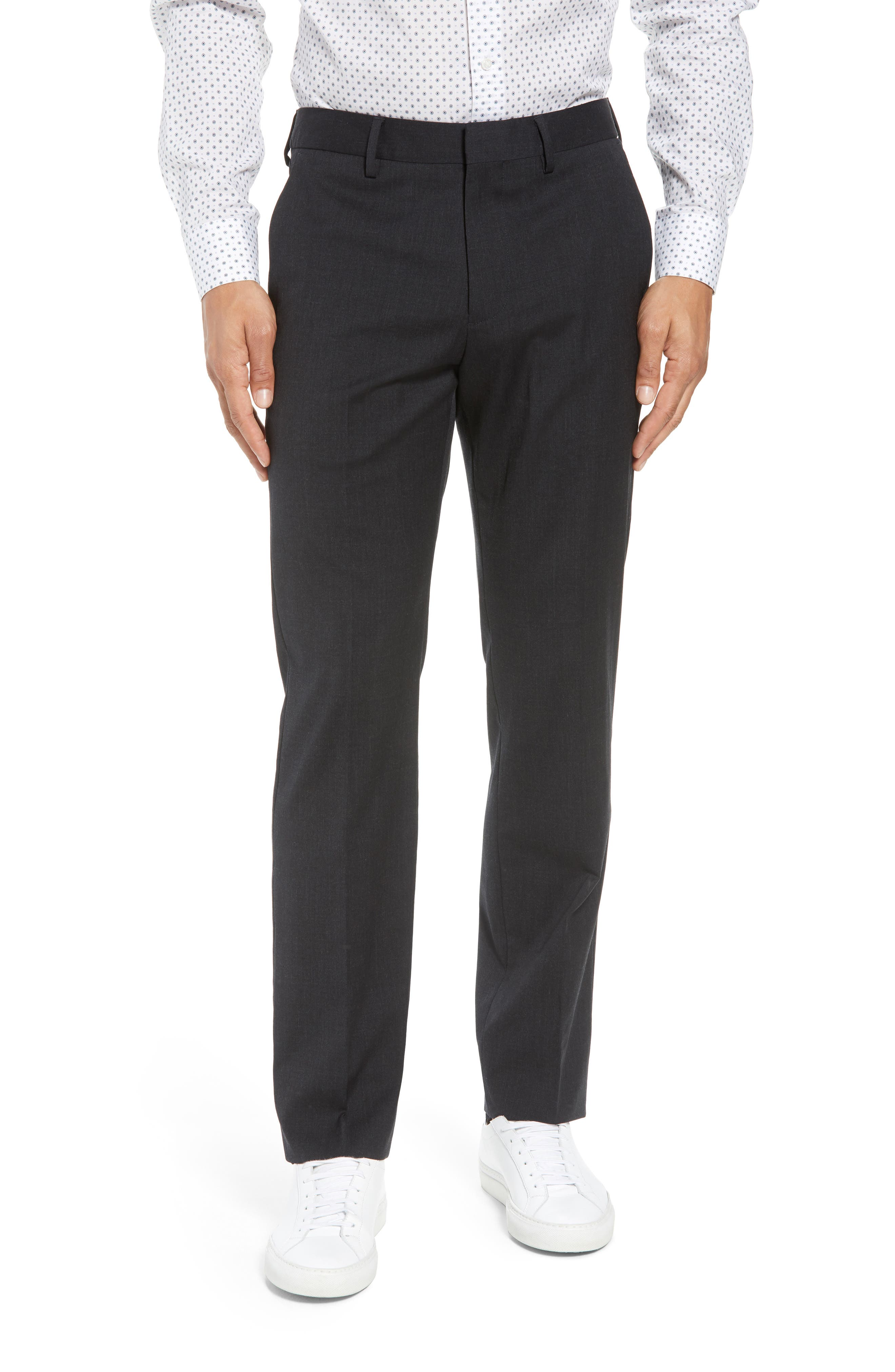 ,                             Jetsetter Slim Fit Flat Front Stretch Wool Trousers,                             Main thumbnail 13, color,                             021