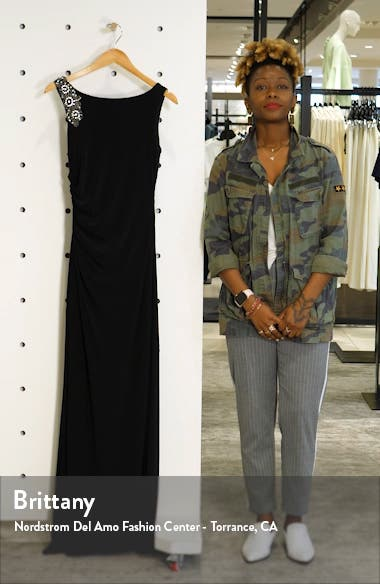 Embellished Boat Neck Evening Gown, sales video thumbnail