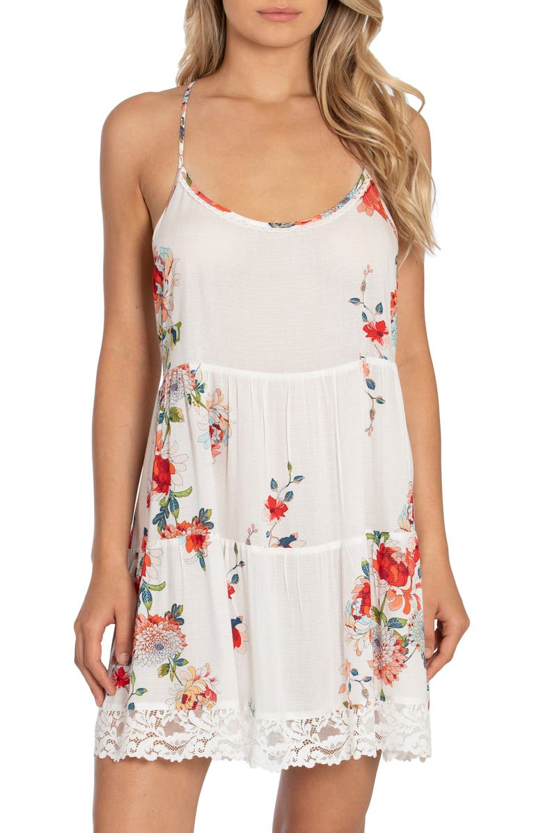 IN BLOOM BY JONQUIL All My Loving Floral Chemise, Main, color, IVORY