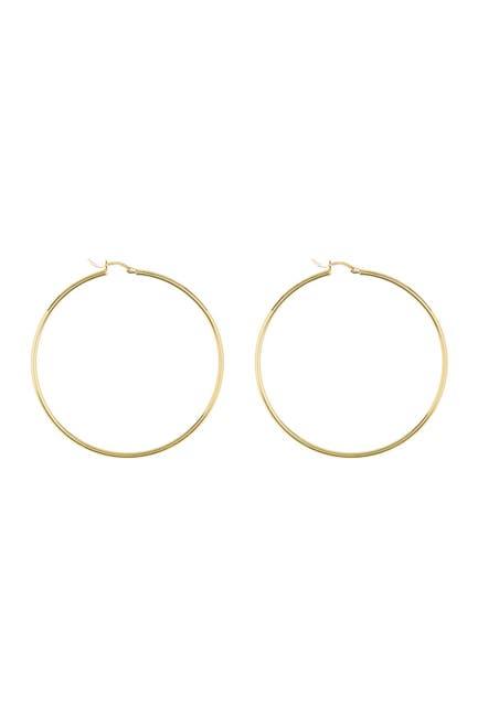 Image of Savvy Cie 18K Yellow Gold Vermeil 58mm Hoop Earrings