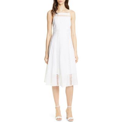 Dolan Bronwyn Cutout Detail White Cotton Midi Dress, White