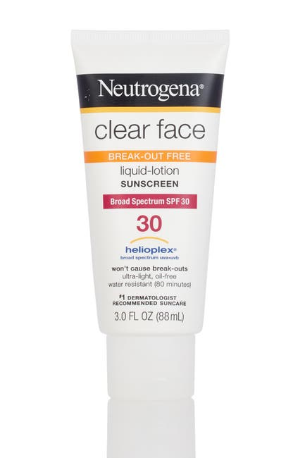Image of JOHNSON & JOHNSON Clear Face Break-Out Free 30 SPF Liquid-Lotion Sunscreen
