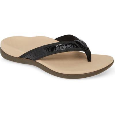 Vionic Casandra Flip Flop, Black