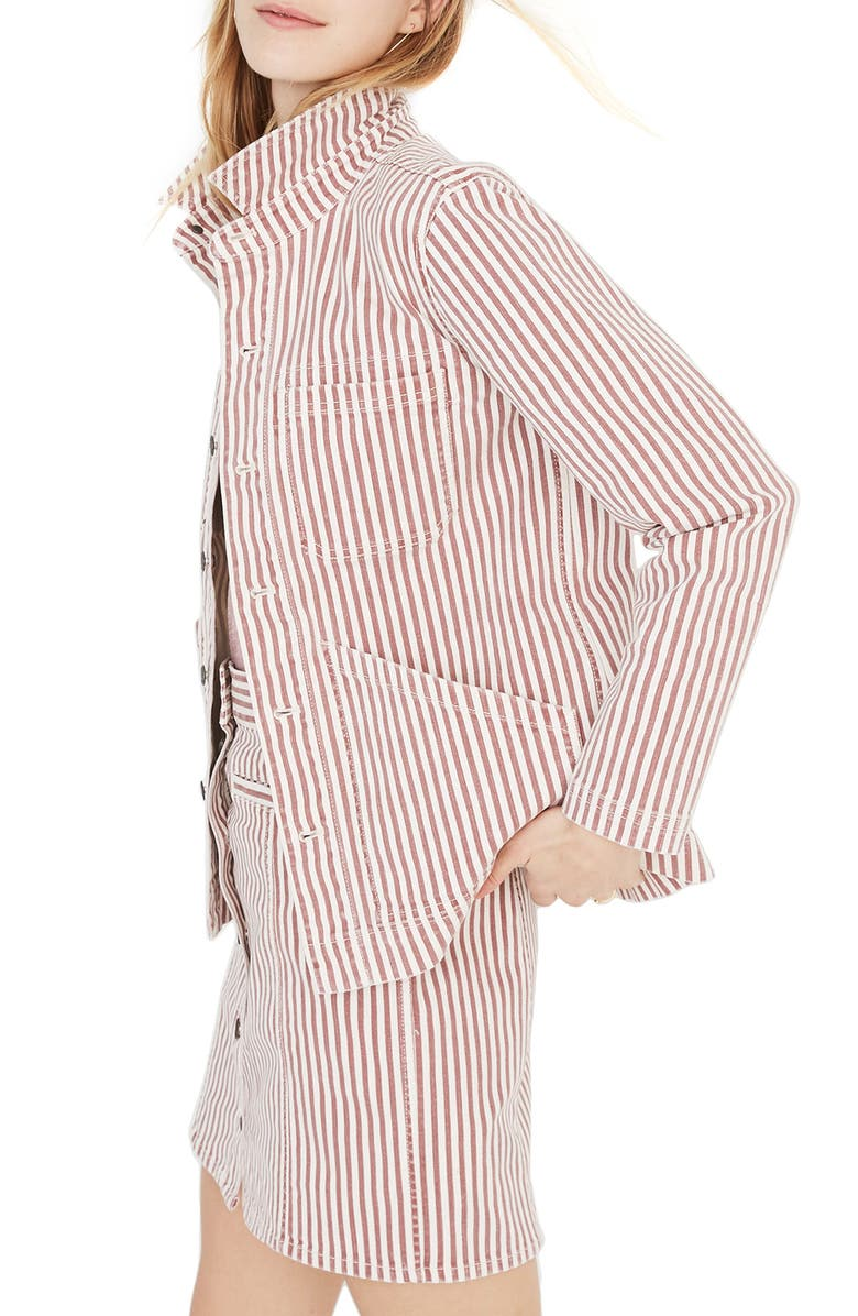 MADEWELL Denim Patch Pocket Chore Coat, Main, color, 800