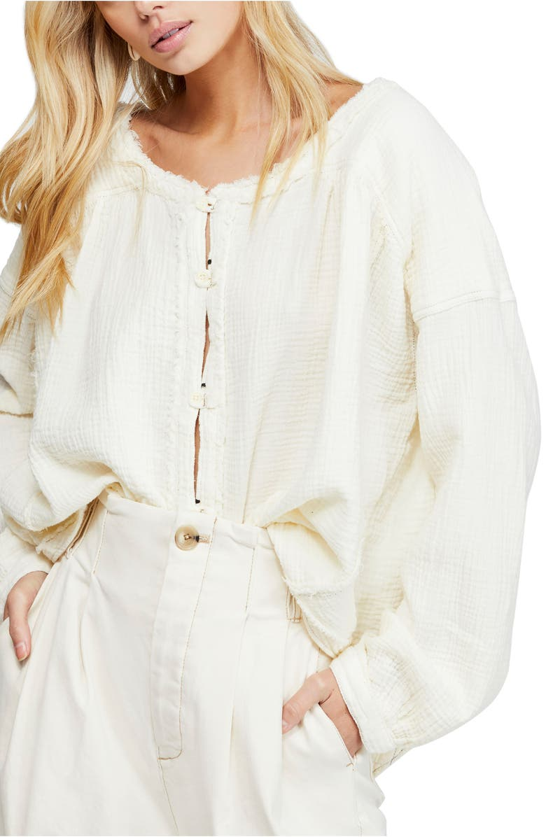 Moving Mountains Button Up Top by Free People