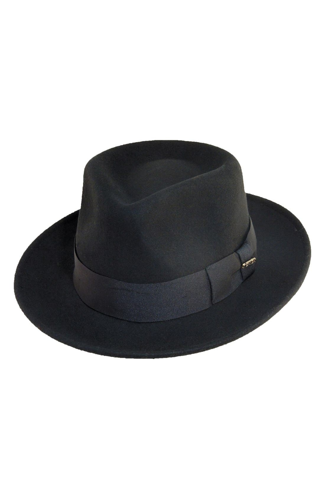 1950s Men's Clothing Mens Scala Classico Wool Felt Fedora - Black $46.00 AT vintagedancer.com