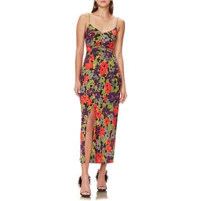 Afrm Rosie Sleeveless V-Neck Midi Dress, Black