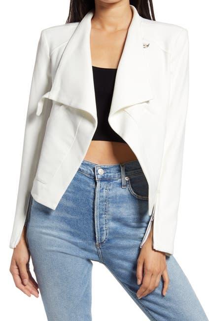 Image of BLANKNYC Denim Mesh Mix Drape Front Jacket