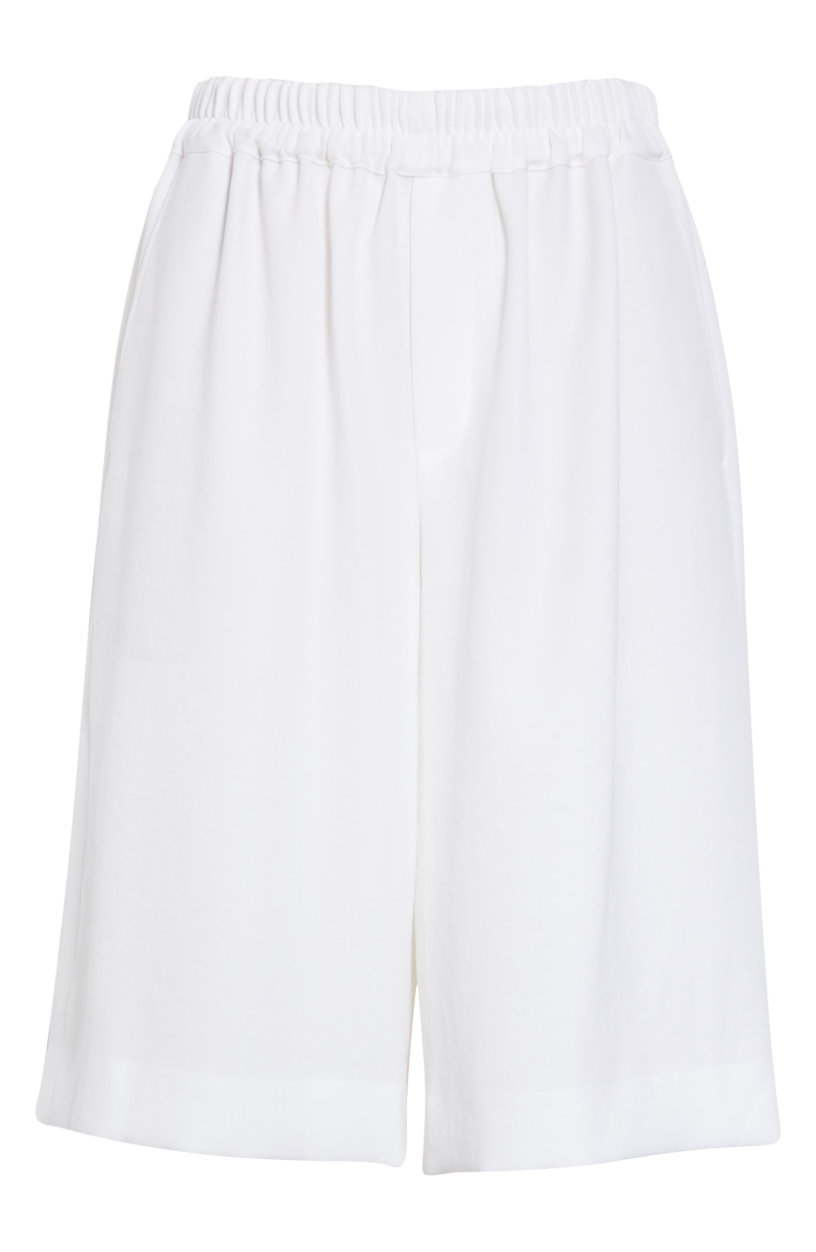,                             Wide Leg Pull-On Shorts,                             Alternate thumbnail 6, color,                             OPTIC WHITE
