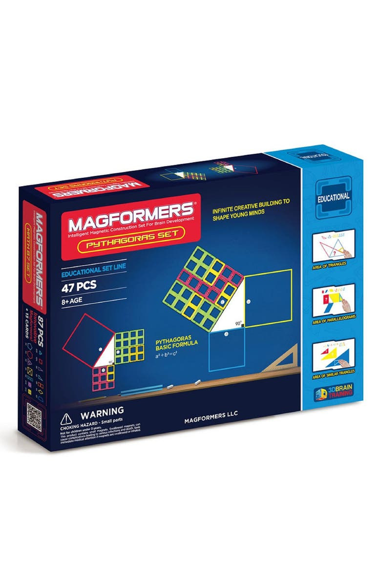MAGFORMERS 'Pythagoras' Magnetic Construction Set, Main, color, Rainbow