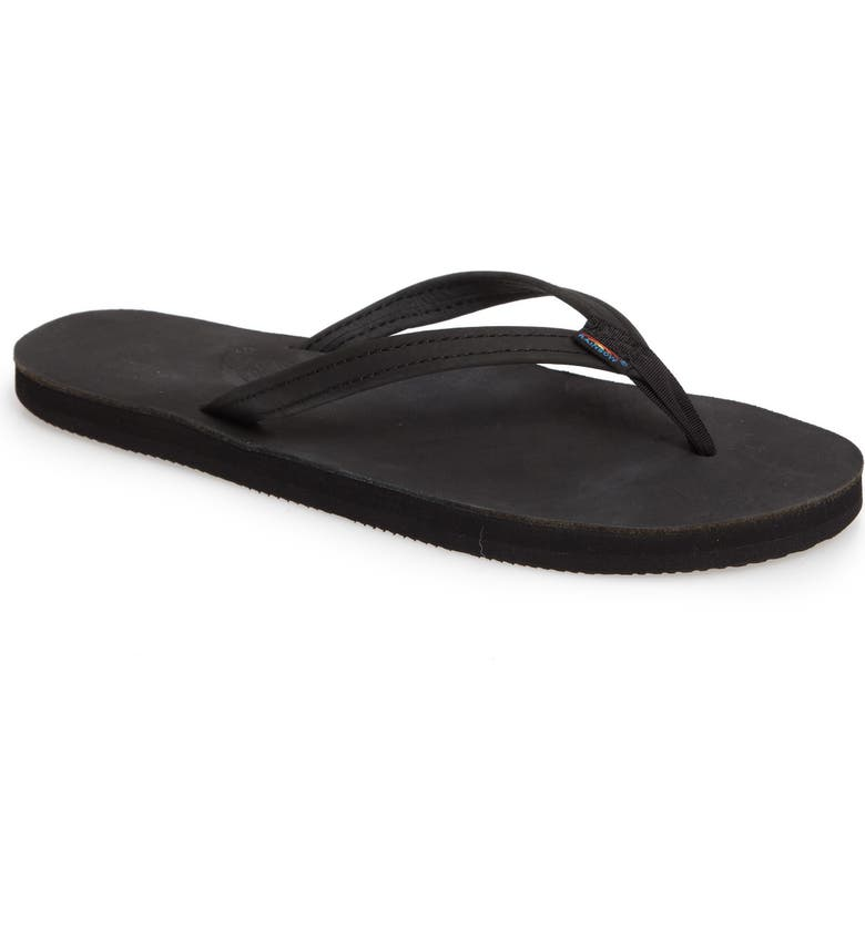 RAINBOW<SUP>®</SUP> Rainbow Narrow Strap Sandal, Main, color, BLACK