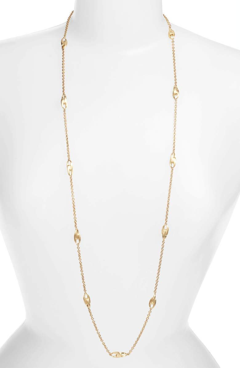 MARCO BICEGO Lucia Long Station Necklace, Main, color, YELLOW GOLD