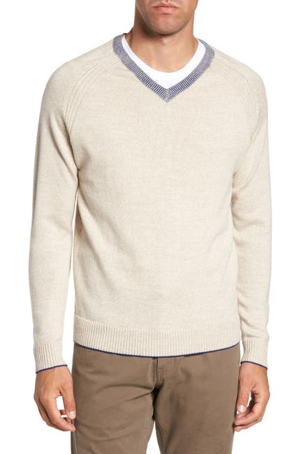 Image of RODD AND GUNN Danum Hill V-Neck Wool Sweater