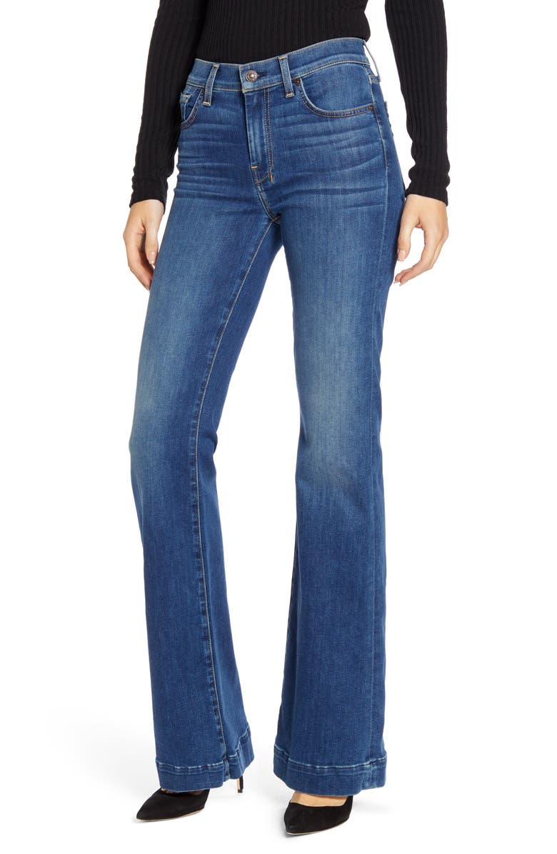 7 FOR ALL MANKIND<SUP>®</SUP> Dojo Wide Leg Jeans, Main, color, MODERN HERITAGE