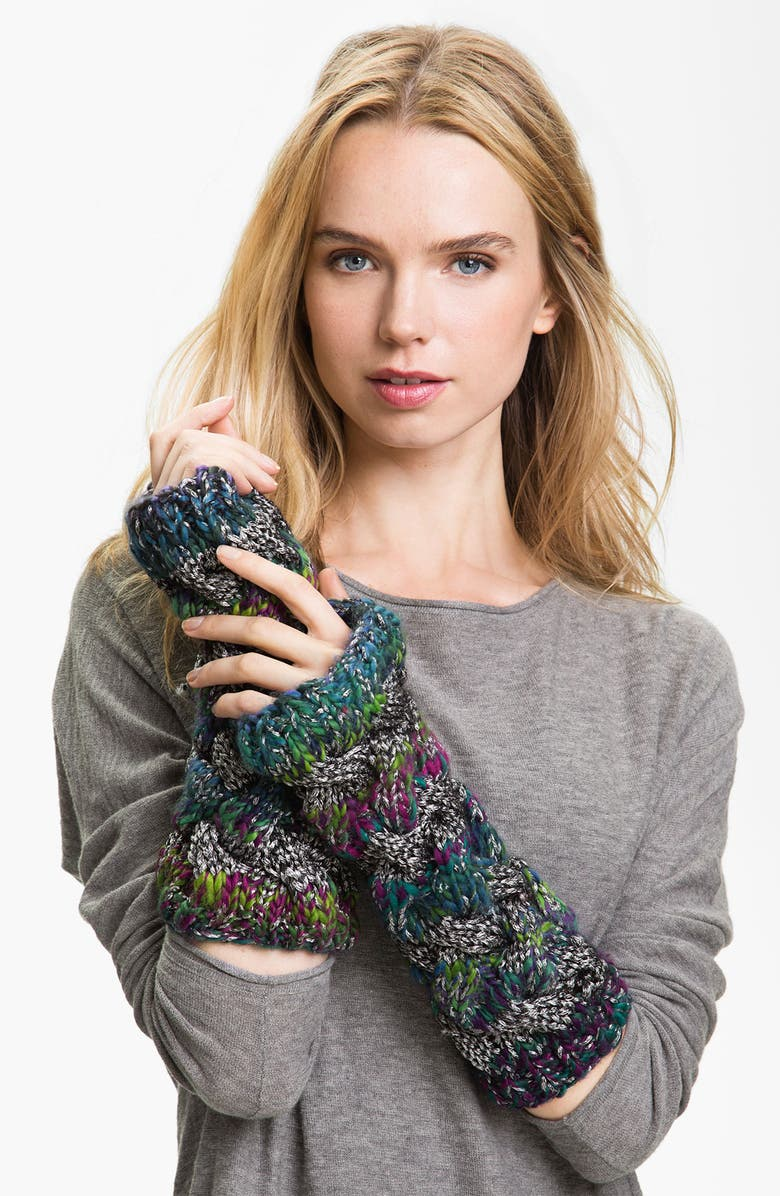 LAUNDRY BY SHELLI SEGAL Cable Knit Arm Warmers, Main, color, 400