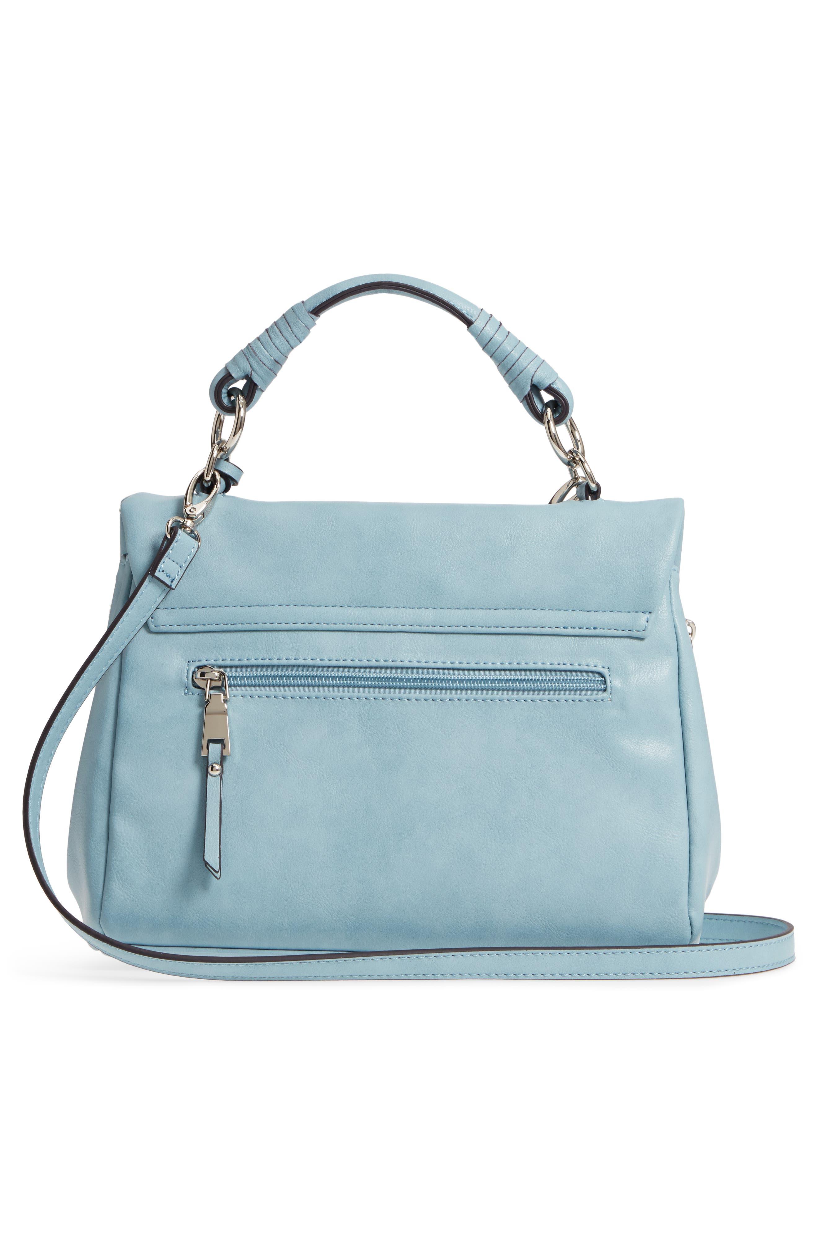 ,                             Top Handle Faux Leather Crossbody Bag,                             Alternate thumbnail 15, color,                             409