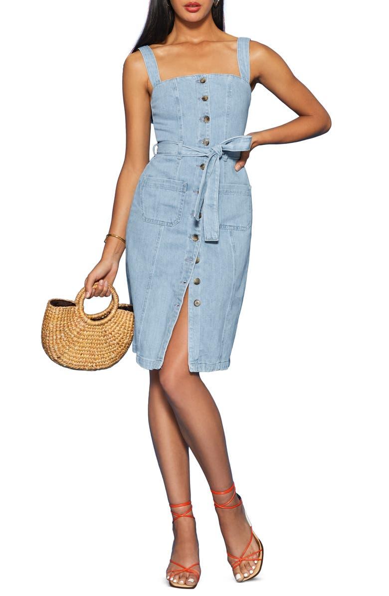 REFORMATION Farrah Organic Cotton Dress, Main, color, 400