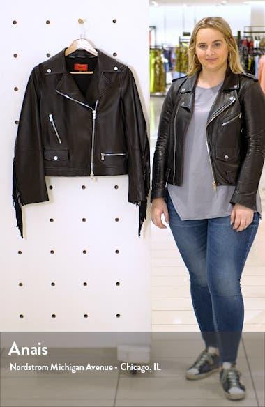 Lemira Fringe Leather Jacket, sales video thumbnail