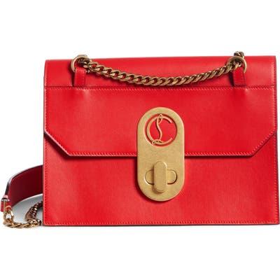 Christian Louboutin Large Elisa Calfskin Leather Shoulder Bag - Red