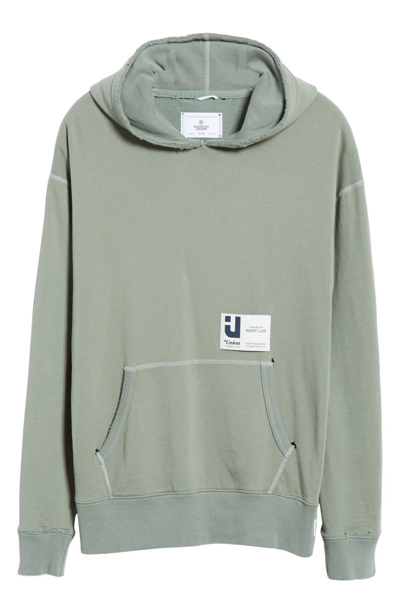 REIGNING CHAMP Relaxed Hooded Sweatshirt, Main, color, GREEN