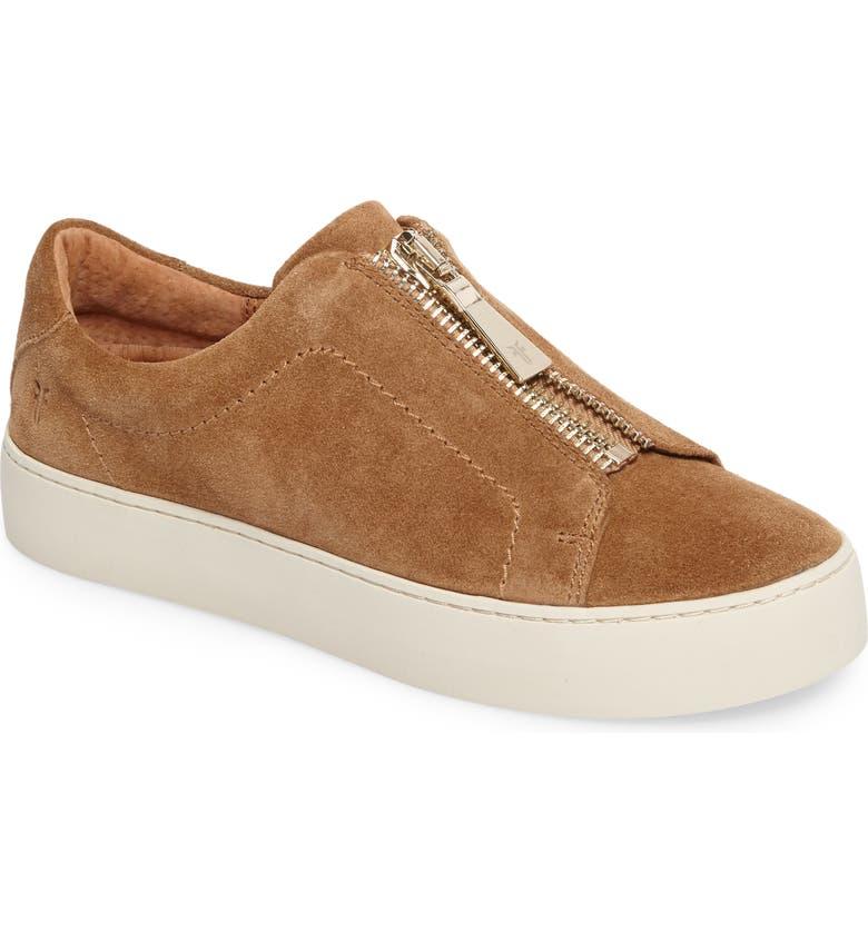 FRYE Lena Zip Platform Sneaker, Main, color, TAN