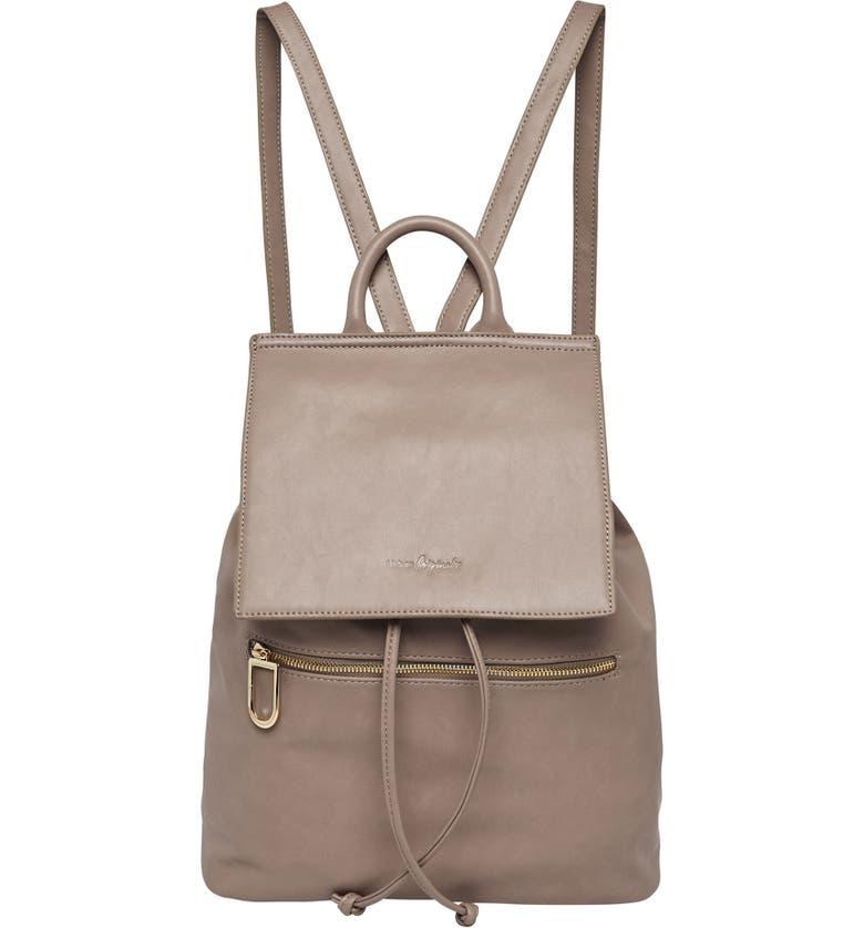 URBAN ORIGINALS Vegan Leather Hide And Seek Backpack, Main, color, MID GREY