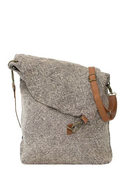 Image of Vintage Addiction Foldover Jute Crossbody Bag