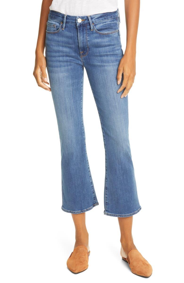 FRAME Le Crop Mini Boot High Waist Jeans, Main, color, POE